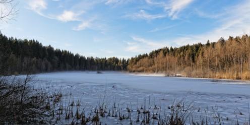 L'étang des Gurles se couvre de brume